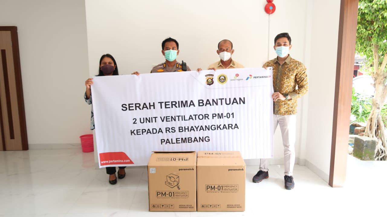 Mewujudkan kan Sum-Sel Bebas Covid SKK Migas-Pertamina EP Asset 2 Beserta Polda Tambah Ventilator Buatan Dalam Negeri di RS. Bhayangkara