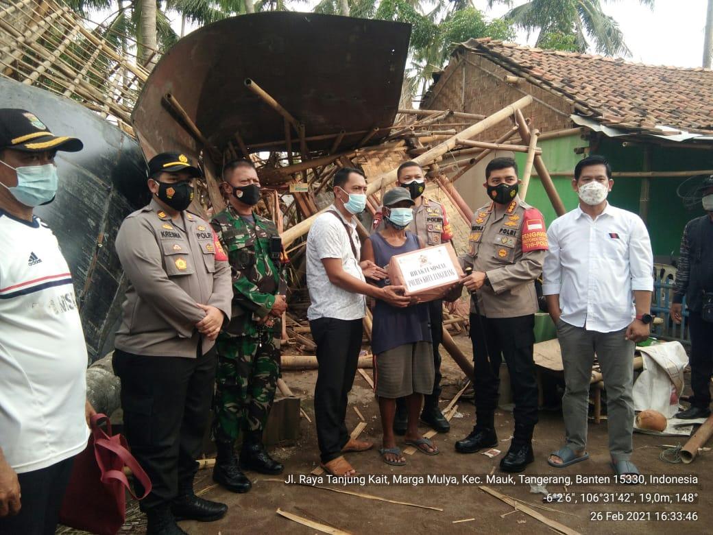 Mauk Kabupaten Tangerang, Diterjang Bencana Angin Puting Beliung