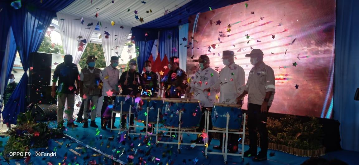 Gubernur Sumsel Beserta PJ Bupati Pali Meresmikan Infrastruktur Jalan Penghubung Antar Kabupaten